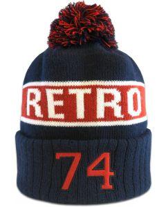 Retro tupsumyssy omalla designilla Kuviovaihtoehto nro 5, logo sublimoitua kangasta