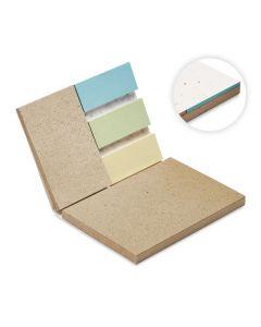 Muistivihko siemenpaperista 10 x 7 x 0,9 cm ja tarralappuja