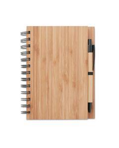 Kierrelehtiö bambukannella sekä kynä