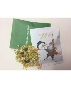 Hedelmämysliä postikortissa