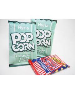 Asiakaalle toteutettu popcorn-pussi