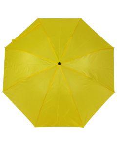 Kokoontaitettava sateenvarjo violetti, asiakkaan painatus kahdessa paneelissa