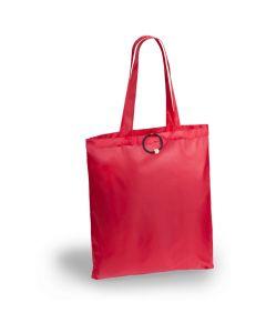 Punainen, kokoontaitettava ostoskassi
