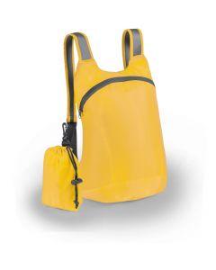 Kokoontaittuva värikas reppu keltainen